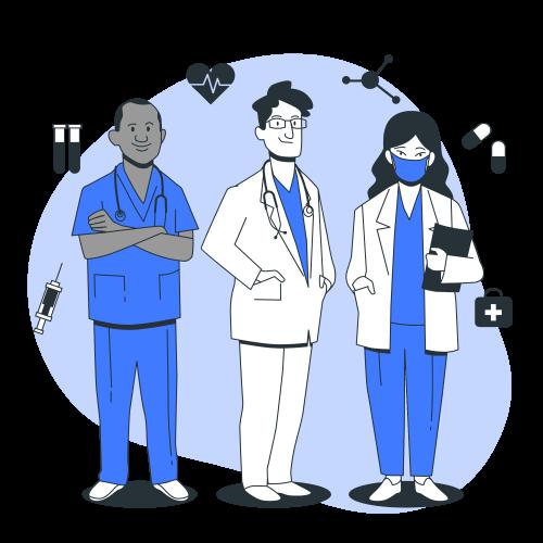 Standing Doctors Characters